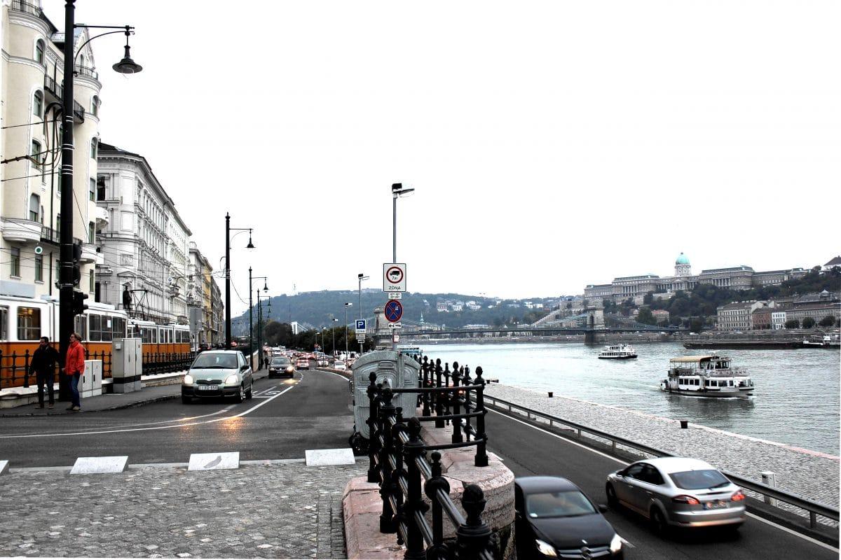 Donau von Pest aus