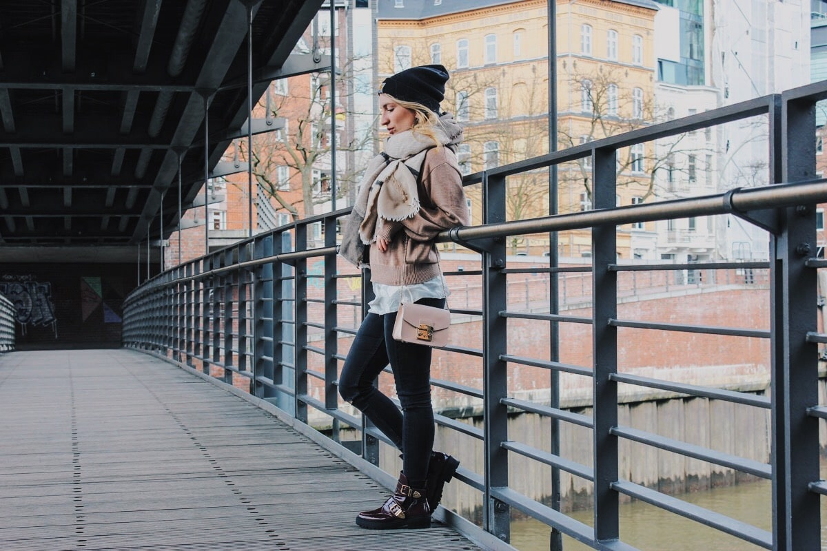 outfit: not spring yet in hamburg