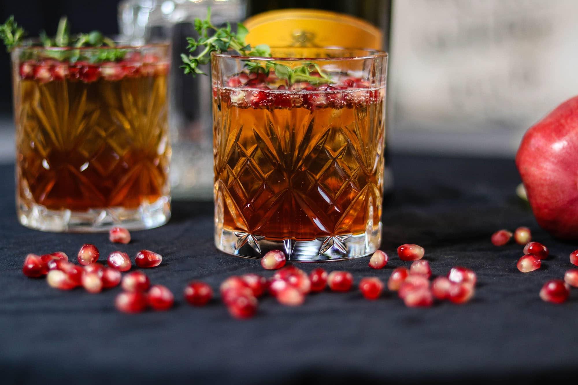 granatapfel cocktail mit sekt