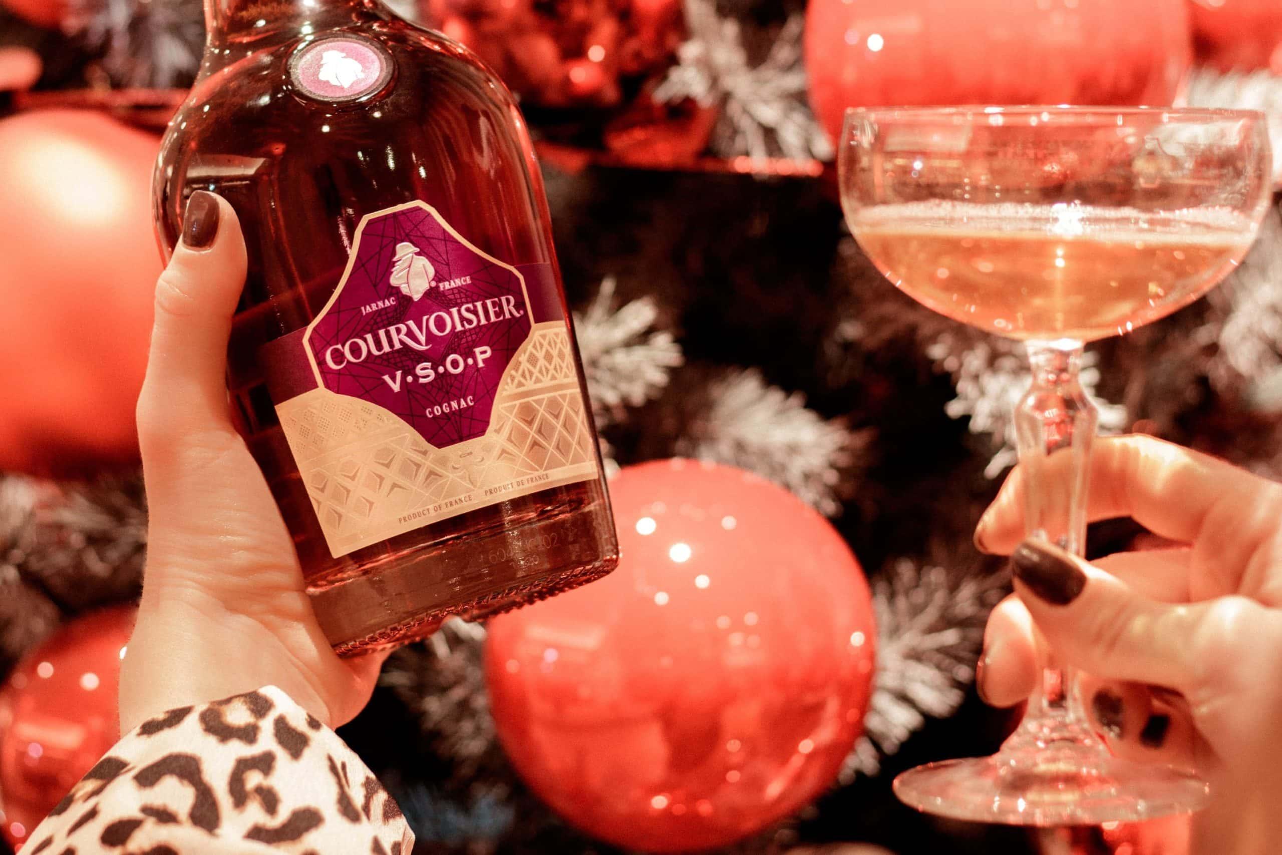 champagner cocktail mit courvoisier VSOP