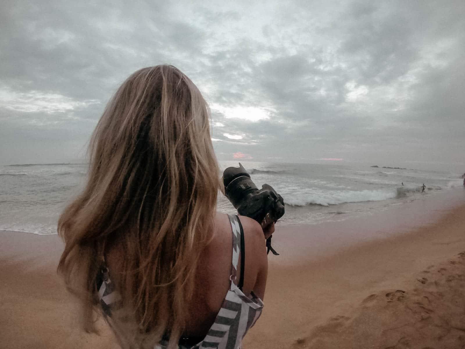 sri lanka hikkaduwa strand fotografie