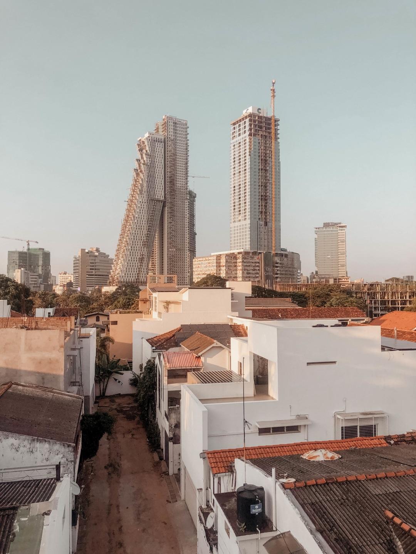 shopping in sri lanka, colomo, city mit blick auf colombo city center