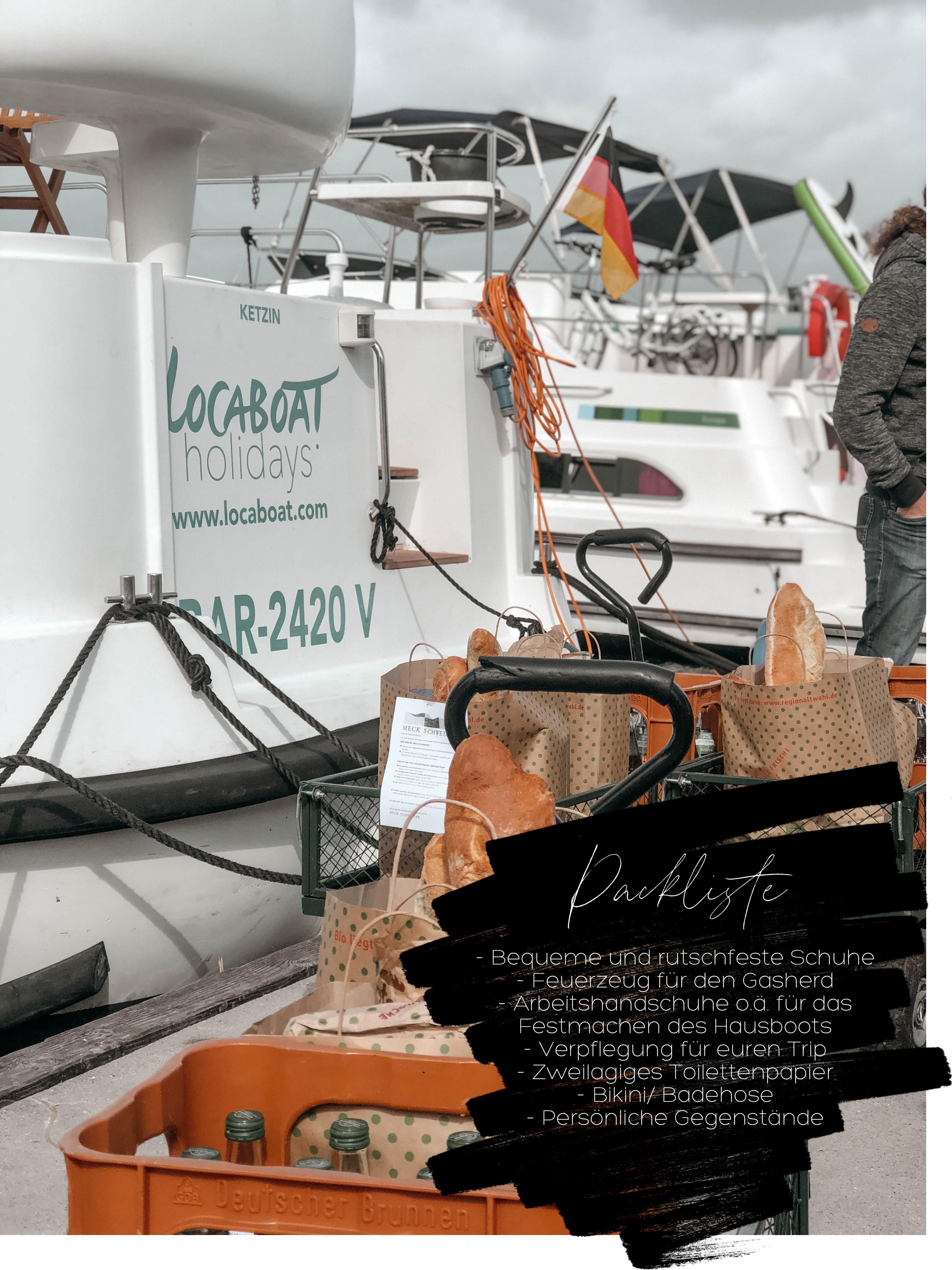 Packliste für einen Hausboot Trip auf der Müritz