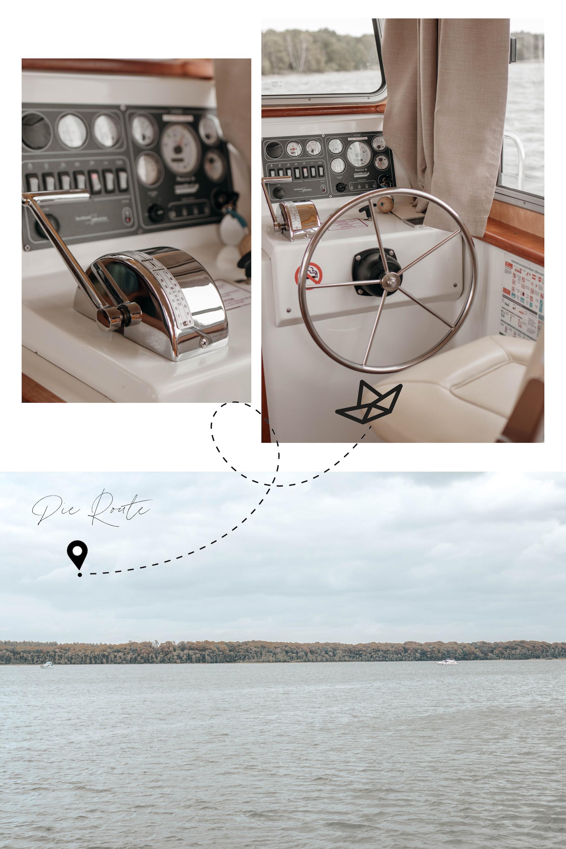 route für einen hausboot trip auf der mecklenburgischen seenplatte