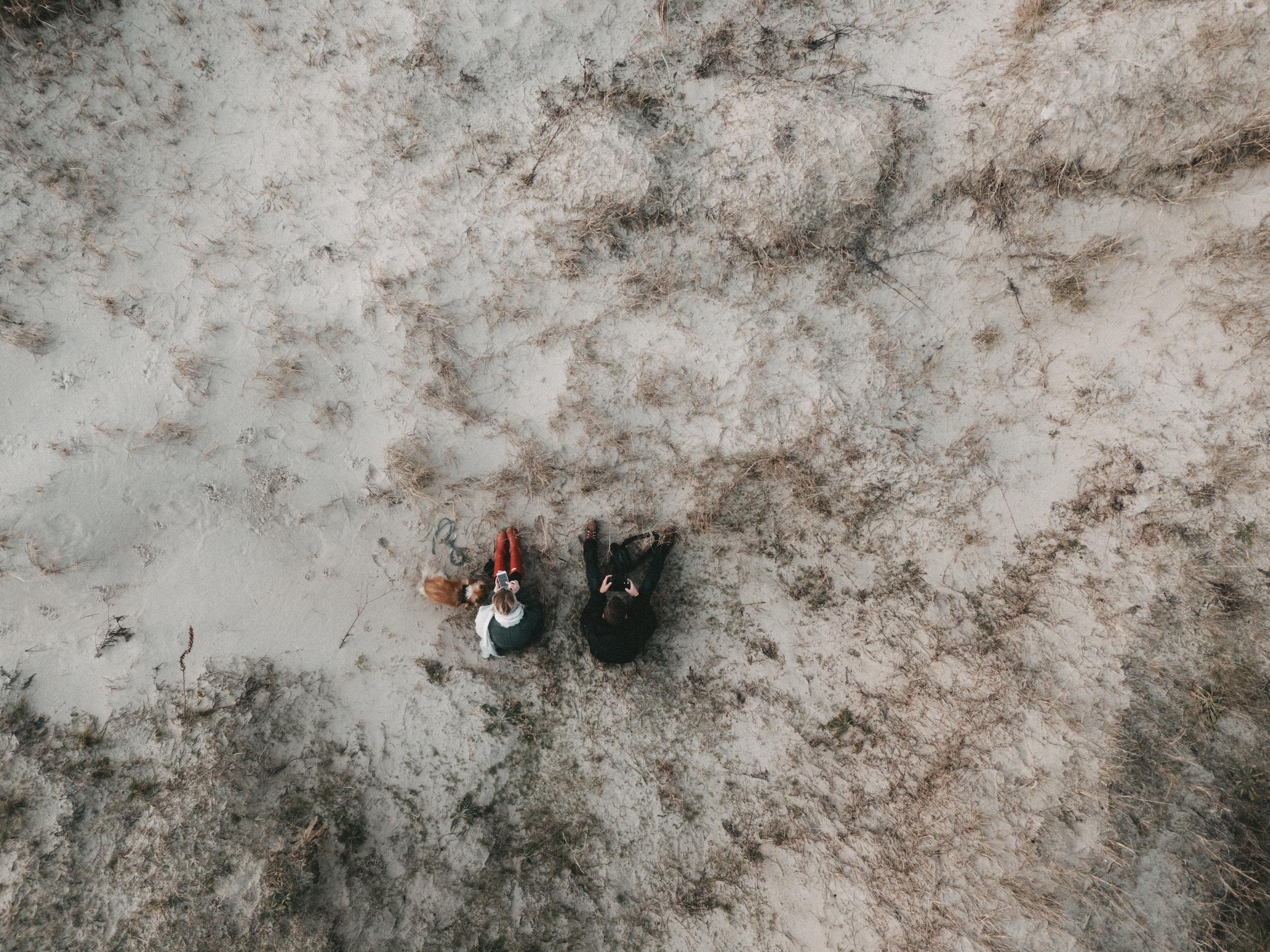 menschen in den dünen von st. peter ording