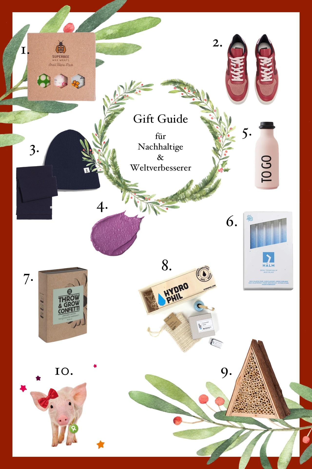 weihnachtsgeschenkideen für nachhaltige