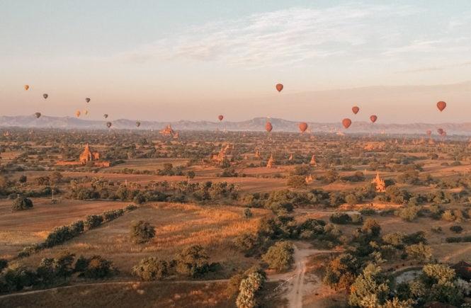 Myanmar Reisetipps und Infos ballonfahrt