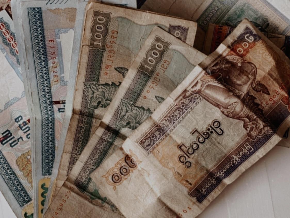 kyatt scheine währung myanmar