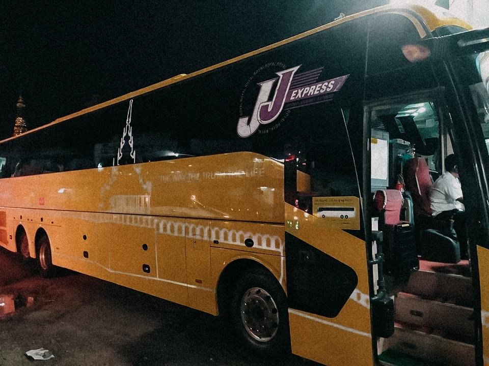 jj express bus unternehmen myanmar