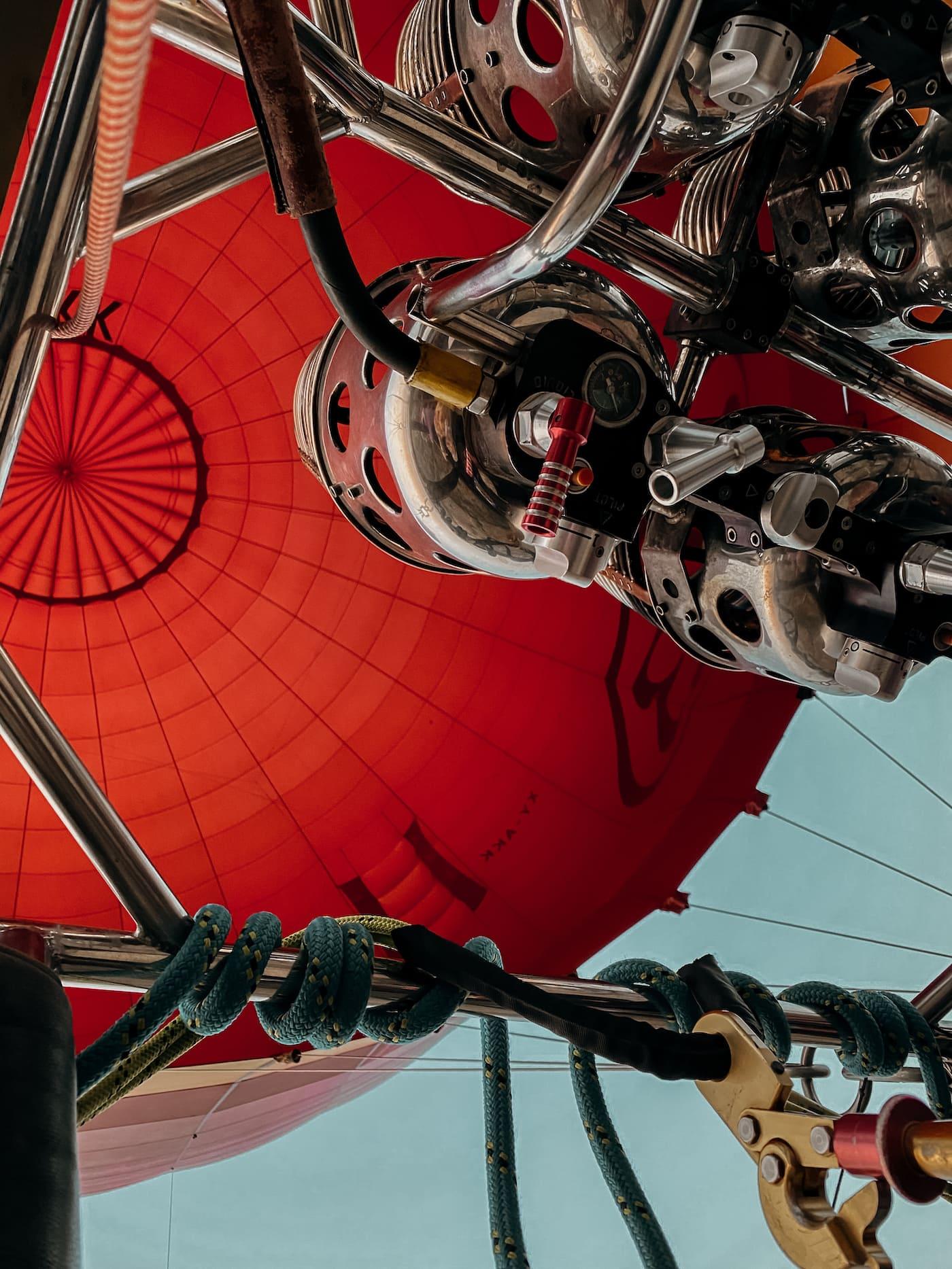 Heißluftballon von innen