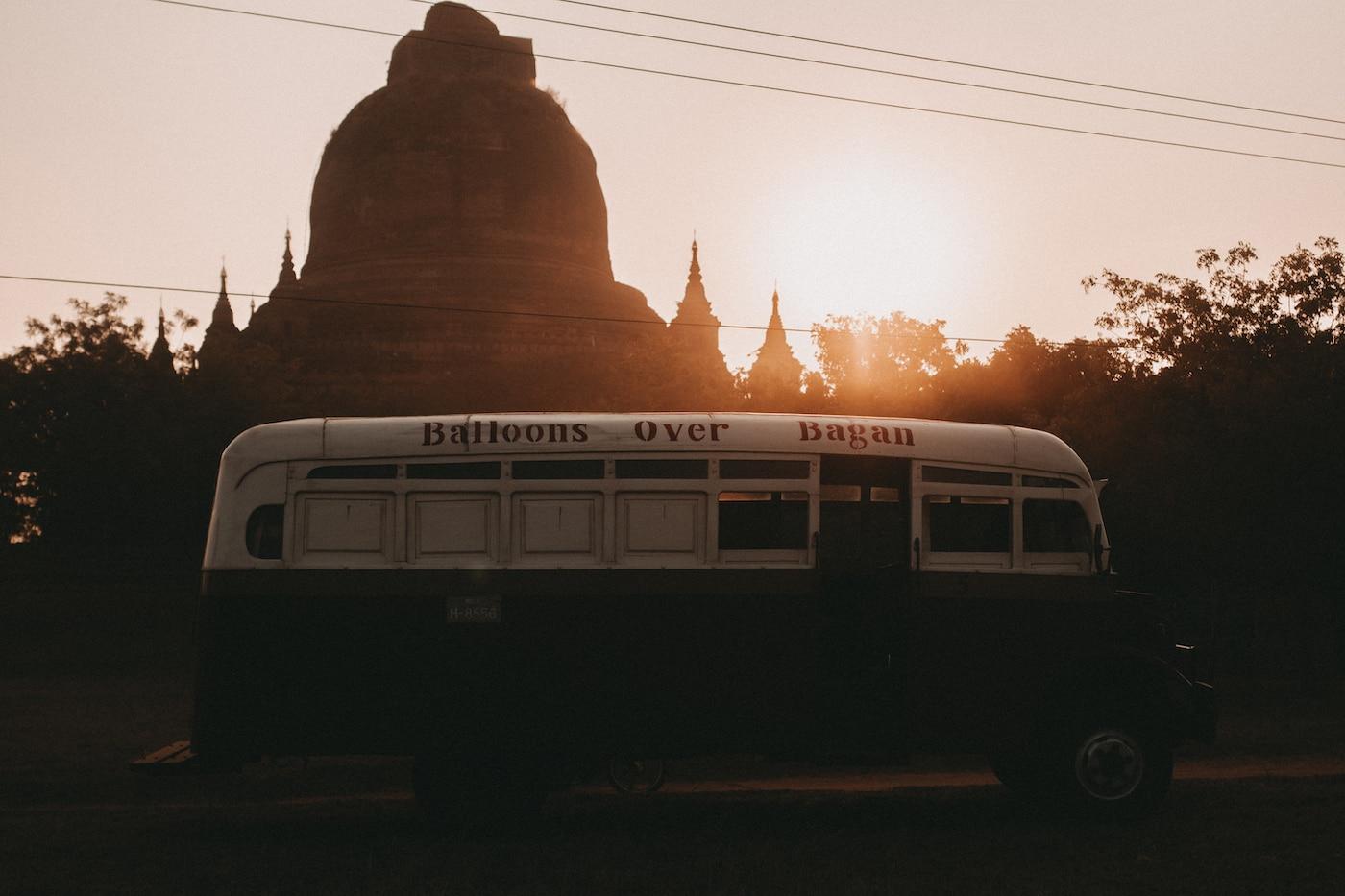 Balloons over Bagan Pagode
