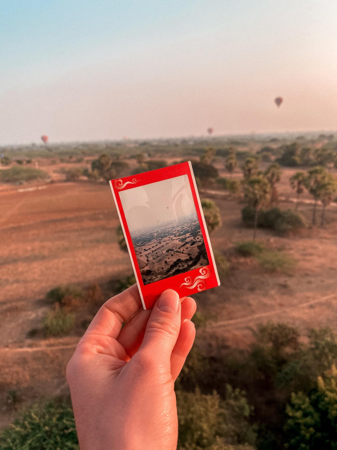 Ballonfahrt Polaroid