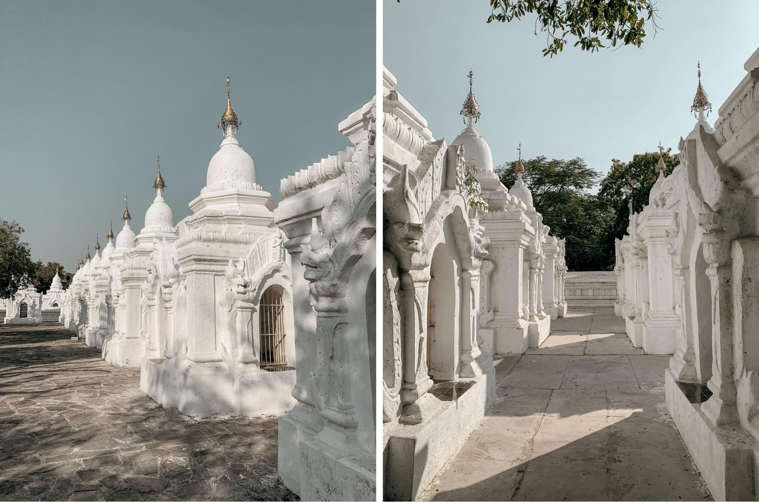 sehenswürdigkeiten mandalay weiße pagoden