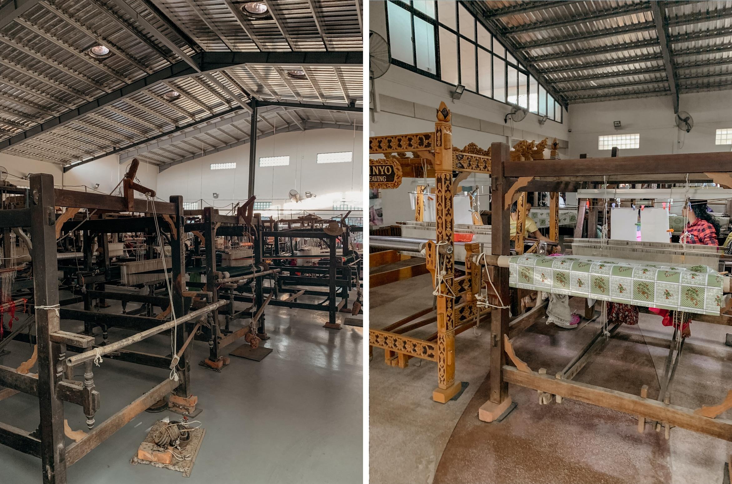 longyi fabrik sehenswürdigkeiten mandalay