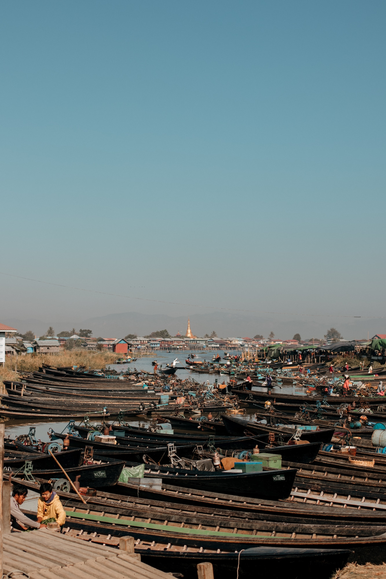 inle lake markt boote