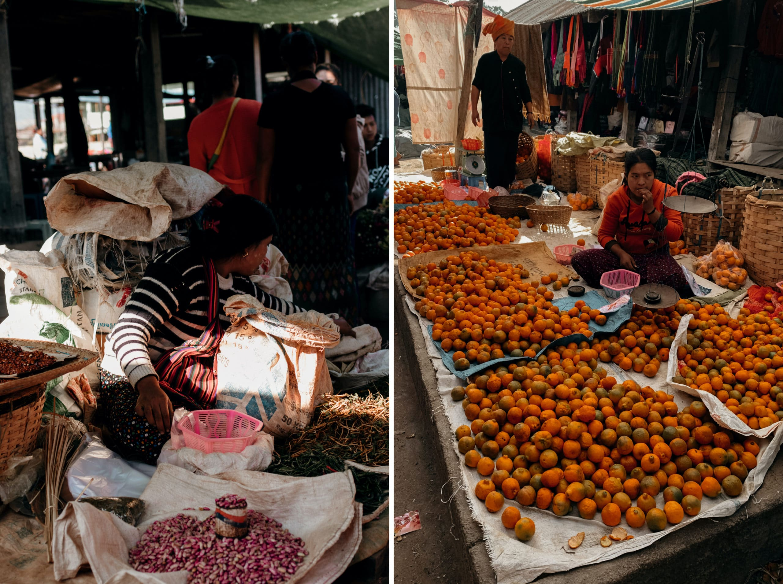 inle lake markt verkaufsstände