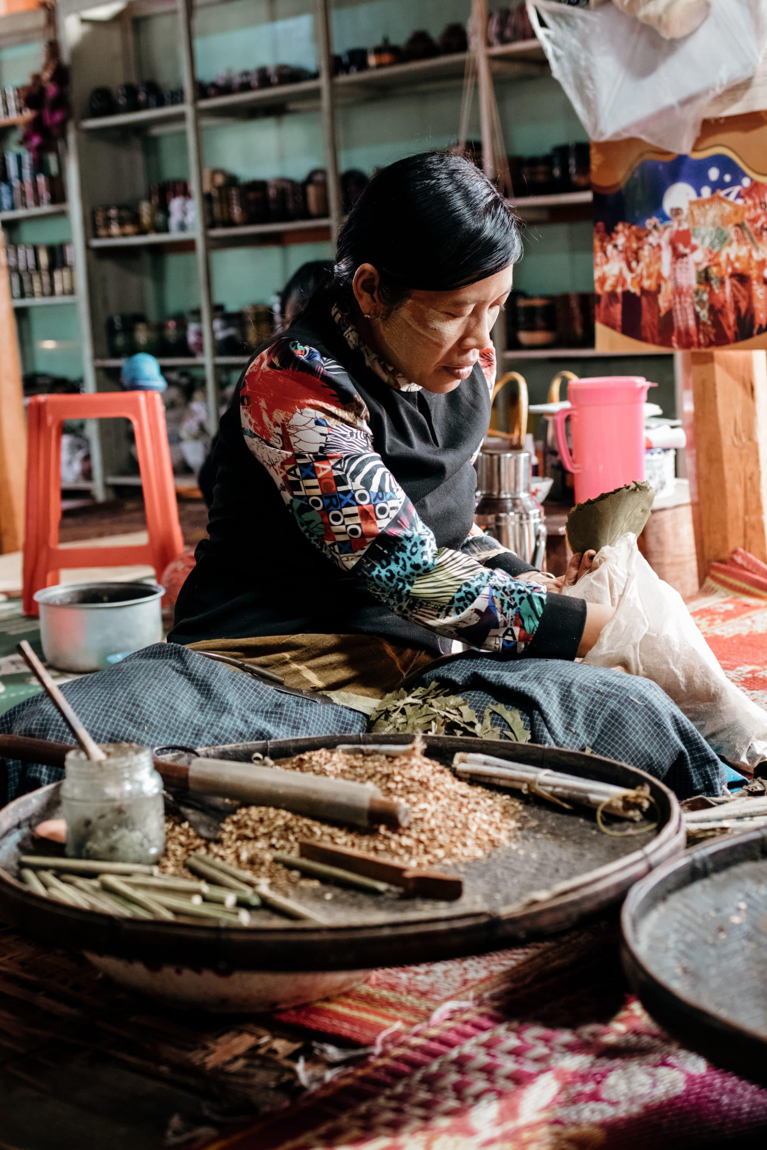 inle lake myanmar zigaretten manufaktur