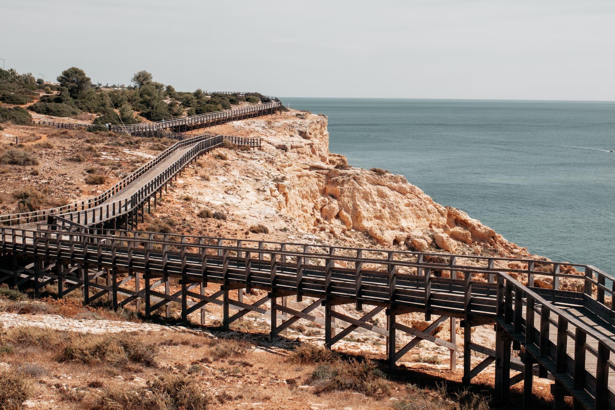 algar seco cliff walk algarve