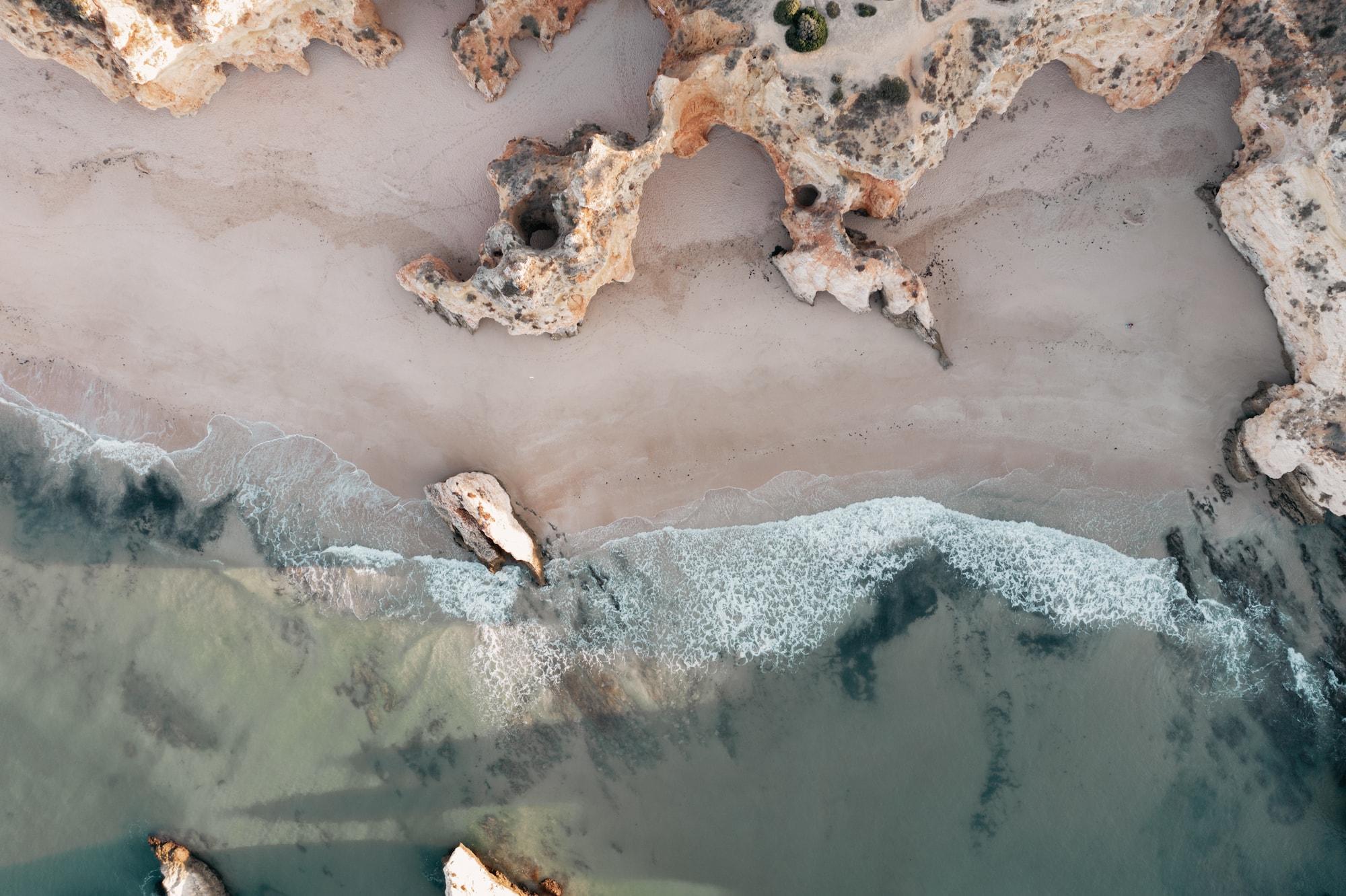 algarve portugal drohnenbild