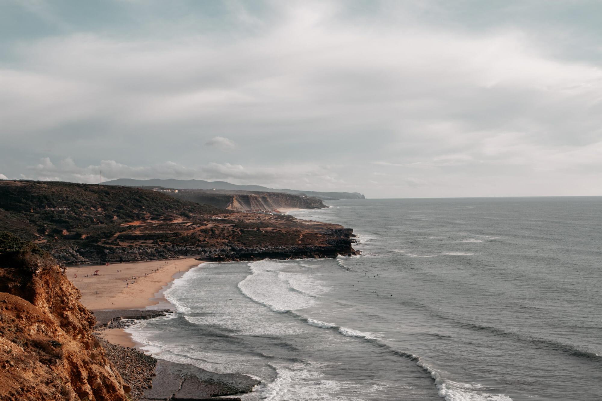 ericeria portugal aussicht strand